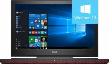 Laptop Dell Inspiron 7567 Intel Core Kaby Lake i7-7700HQ 1TB HDD+128GB SSD 8GB nVidia GeForce GTX1050Ti 4GB Win10 UHD Laptop laptopuri