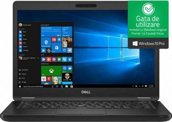 Laptop Dell Latitude 5490 Intel Core Kaby Lake R (8th Gen) i7-8650U 256GB SSD 8GB FullHD Win10 Pro Tast. ilum. Laptop laptopuri