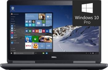 Laptop Dell Precision 7510 Intel Core i7-6820HQ 512GB 32GB nVidia Quadro M2000M 4GB Win10 Pro UHD Fingerprint Laptop laptopuri