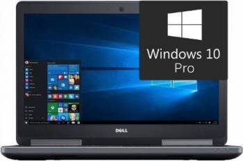Laptop Dell Precision 7520 Intel Xeon UP E3-1505MV6 1TB HDD+256GB SSD 32GB Win10 Pro FullHD Fingerprint Laptop laptopuri