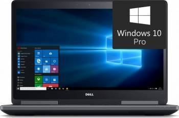 Laptop Dell Precision 7710 Intel Xeon E3-1545M v5 2TB HDD+256GB SSD 16GB nVidia Quadro M4000M 4GB Win10 Pro FullHD FPR Laptop laptopuri