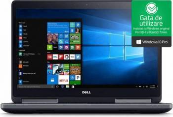 Laptop Dell Precision 7720 Intel Core Kaby Lake i7-7920HQ 256GB SSD 16GB nVidia Quadro P3000 6GB FullHD Win10 Pro Laptop laptopuri