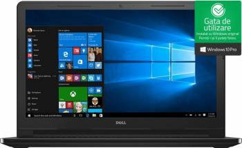 Laptop Dell Vostro 3568 Intel Core Kaby Lake i5-7200U 256GB SSD 8GB FullHD Win10 Pro Laptop laptopuri