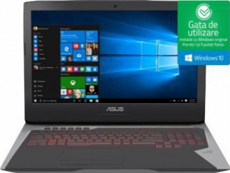 Laptop Gaming Asus ROG G752VS Intel Core KabyLake i7-7700HQ 1TB HDD+512GB SSD 32GB nVidia GeForce GTX 1070 8GB Win10 FHD Laptop laptopuri