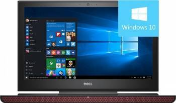 Laptop Gaming Dell Inspiron 7567 Procesor Intel Core i7-7700HQ 1TB+8GB SSHD 8GB nVidia GeForce GTX 1050Ti 4GB Win10 FHD Laptop laptopuri