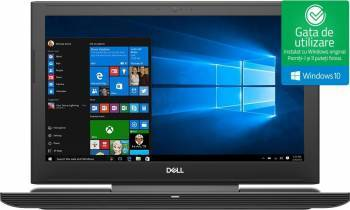 Laptop Gaming Dell Inspiron 7577 Intel Core Kaby Lake i7-7700HQ 1TB HDD+128GB SSD 16GB nVidia GeForce GTX 1050 Ti 4GB Laptop laptopuri