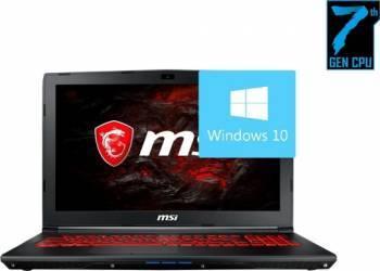 Laptop Gaming MSI GL72M 7RE Intel Core Kaby Lake i7-7700HQ 1TB+128GB 8GB nVidia GTX1050 2GB Win10 FullHD Negru Laptop laptopuri