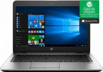 Laptop HP EliteBook 840 G4 Intel Core Kaby Lake i5-7200U 256GB 8GB Win10 Pro FullHD FPR Silver Laptop laptopuri