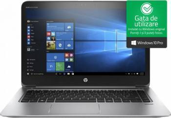 Laptop HP EliteBook Folio 1040 G3 Intel Core i7-6500U 256GB 8GB Win10 Pro FullHD Silver Laptop laptopuri