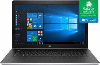 Laptop HP ProBook 470 G5 Intel Core Kaby Lake R(8th Gen) i7-8550U 1TB 8GB nVidia GeForce 930MX 2GB Win10 FullHD FPR Silv Laptop laptopuri