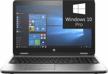 Laptop HP ProBook 650 G3 Intel Core Kaby Lake i3-7100U 500GB 4GB Win10 Pro HD Fingerprint Laptop laptopuri