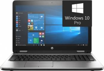 Laptop HP ProBook 650 G3 Intel Core Kaby Lake i5-7440HQ 256GB 8GB Win10 Pro FullHD Laptop laptopuri