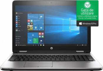 Laptop HP ProBook 650 G3 Intel Core Kaby Lake i7-7820HQ 512GB 8GB Win10 Pro FullHD FPR Laptop laptopuri