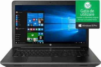 Laptop HP Zbook 15 G4 Intel Core Kaby Lake i7-7700HQ 1TB HDD+256GB SSD 16GB nVidia Quadro M2200 4GB Win10 Pro FullHD FPR Laptop laptopuri
