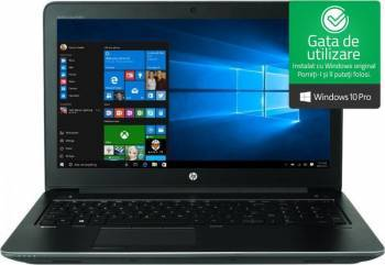 Laptop HP ZBook 15 G4 Intel Core Kaby Lake i7-7700HQ 1TB HDD+256GB SSD 8GB nVidia Quadro M1200 4GB Win10 Pro FullHD FPR Laptop laptopuri