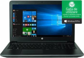 Laptop HP ZBook 15 G4 Intel Core Kaby Lake i7-7700HQ 256GB 16GB nVidia Quadro M1200 4GB Win10 Pro FullHD FPR Dark Ash Laptop laptopuri