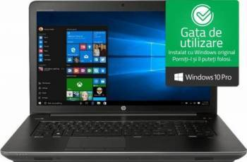 Laptop HP ZBook 17 G4 Intel Core Kaby Lake i7-7700HQ 256GB 16GB nVidia Quadro M2200 4GB Win10 Pro FullHD FPR Laptop laptopuri