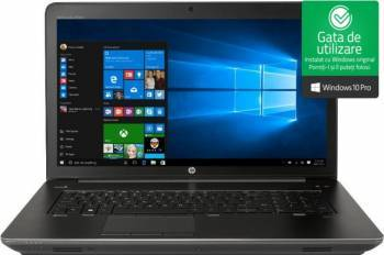Laptop HP ZBook 17 G4 Intel Core Kaby Lake i7-7700HQ 256GB 8GB nVidia Quadro M2200 4GB Win10 Pro FullHD Fingerprint Laptop laptopuri
