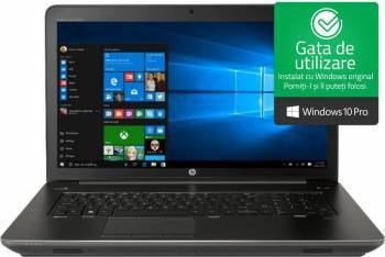 Laptop HP Zbook 17 G4 Intel Core Kaby Lake i7-7820HQ 1TB HDD+256GB SSD 32GB nVidia P3000 6GB Win10 Pro FHD FPR Dark Ash Laptop laptopuri