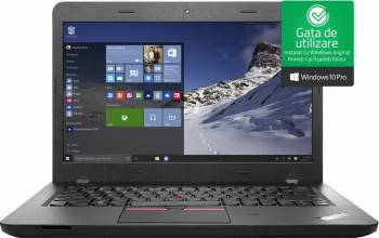Laptop Lenovo ThinkPad E460 Intel Core Skylake i5-6200U 500GB 4GB AMD Radeon R7 M360 2GB Win10 Pro FullHD Laptop laptopuri