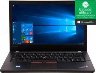 Laptop Lenovo ThinkPad T470 Intel Core Kaby Lake i5-7200U 256GB 8GB Win10 Pro FullHD FPR Laptop laptopuri