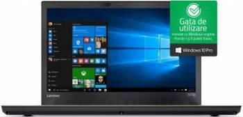 Laptop Lenovo ThinkPad T470p Intel Core Kaby Lake i7-7700HQ 256GB 8GB nVidia GeForce 940MX 2GB Win10 Pro FullHD Laptop laptopuri