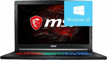Laptop MSI GP72M 7RDX Intel Core Kaby Lake i7-7700HQ 1TB HDD+256GB SSD 8GB nVidia GTX1050 4GB Win10 FullHD Laptop laptopuri