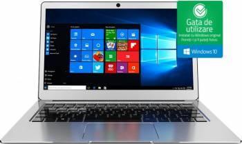 Laptop Njoy Aerial Intel Celeron Apollo Lake N3350 32GB 4GB Win10 FullHD Silver Laptop laptopuri