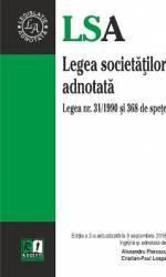 Legea Societatilor Adnotata Act. 9 Septembrie 2015