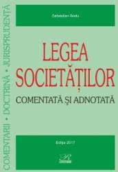 Legea societatilor comentata si adnotata - Sebastian Bodu