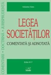 Legea societatilor comentata si adnotata - Sebastian Bodu Carti