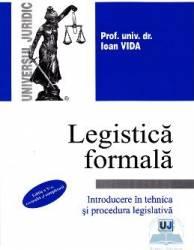 Legistica formala - Ioan Vida