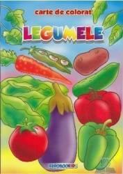 Legumele - Carte de colorat