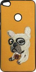 Lemontti Carcasa Embroidery Huawei P9 Lite 2017 Orange Puppy Huse Telefoane