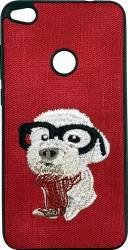 Lemontti Carcasa Embroidery Huawei P9 Lite 2017 Red Puppy Huse Telefoane