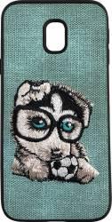 Lemontti Carcasa Embroidery Samsung Galaxy J5 2017 Gray Puppy Huse Telefoane
