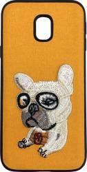 Lemontti Carcasa Embroidery Samsung Galaxy J5 2017 Orange Puppy Huse Telefoane