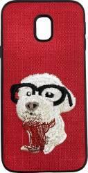 Lemontti Carcasa Embroidery Samsung Galaxy J5 2017 Red Puppy Huse Telefoane