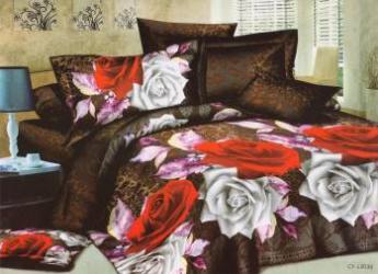 Lenjerie de pat 3D NovaHouse Animal Print cu Trandafiri