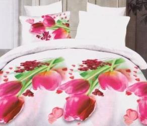 Lenjerie de pat 3D NovaHouse Lalele roz