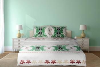 Lenjerie de pat dubla Heinner Home HR-4BED-TRD01 4 piese Bumbac Multicolor Lenjerii de pat
