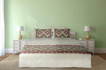 Lenjerie de pat dubla Heinner Home HR-4BED-TRD02, 4 piese, Bumbac Multicolor Lenjerii de pat