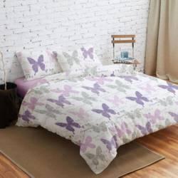 Lenjerie de pat Dubla Heinner Home VN-4BEDYX60-BTFY 4 piese Multicolora Lenjerii de pat