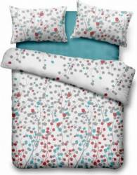 Lenjerie de pat dubla Heinner Home VN-4BEDYX60-LEAFS, 4 piese Multicolor Lenjerii de pat