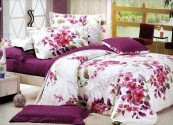 Lenjerie de pat dubla Heinner Home VN-4BEDYX60-MGN, 4 piese Alb-Mov Lenjerii de pat