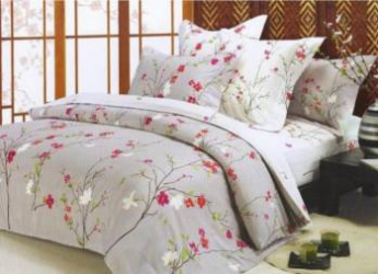 Lenjerie de Pat Dubla Heinner Home VN-4BEDYX60-SPRING 4 piese Multicolor Lenjerii de pat