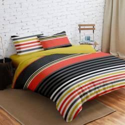 Lenjerie de Pat Dubla Heinner Home VN-4BEDYX60-STR, 4 piese Multicolor Lenjerii de pat