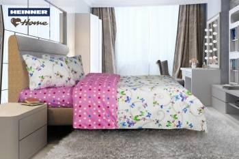 Lenjerie de pat King Size Heinner Home HR-4KGBED144-BTFLY, Bumbac, 4 piese Multicolor Lenjerii de pat