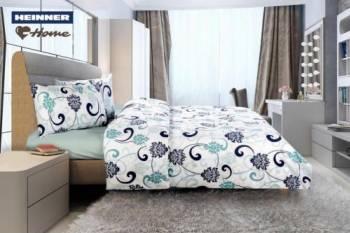 Lenjerie de pat King Size Heinner Home HR-4KGBED144-RLY, Bumbac, 4 piese Multicolor Lenjerii de pat