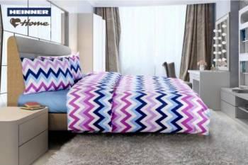 Lenjerie de pat King Size Heinner Home HR-4KGBED144-ZZG Bumbac 4 piese Multicolor Lenjerii de pat